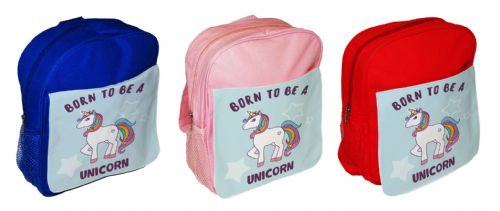 Born To Be A Unicorn Cute Funny Children's School Bag Rucksack Backpack